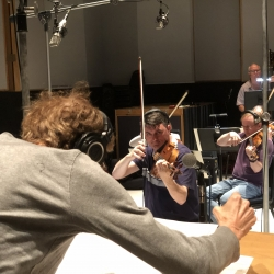 David Campbell conducting at Capitol Studios