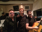 David Campbell with Bono and The Edge