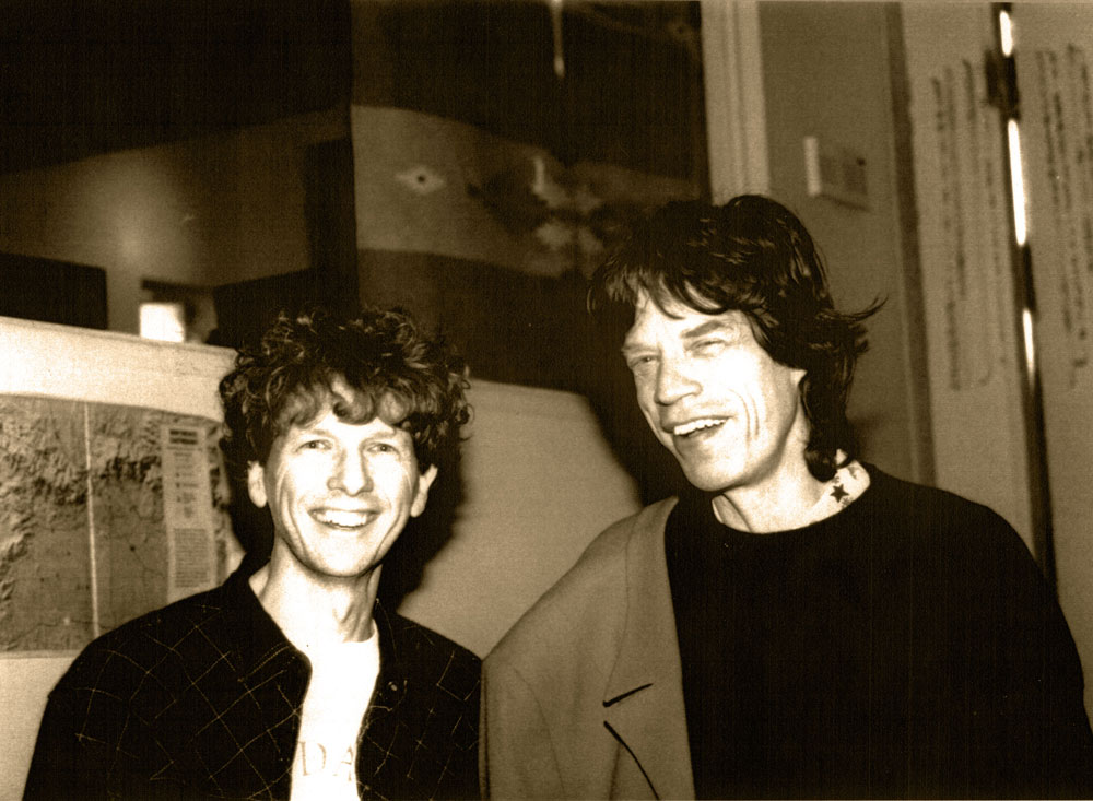 David Campbell and Mick Jagger